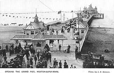 Postcard - Opening of the Grand Pier at Weston-super-Mare