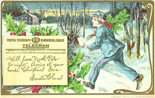 Postal Telegraph / Commercial Cables Santa Claus telegram
